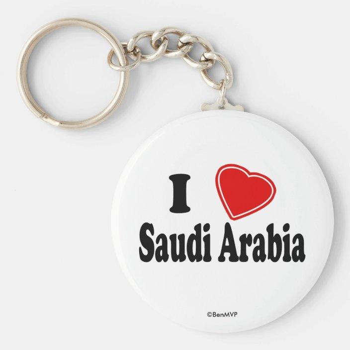I Love Saudi Arabia Key Chain