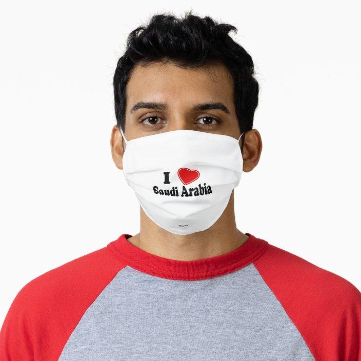 I Love Saudi Arabia Mask