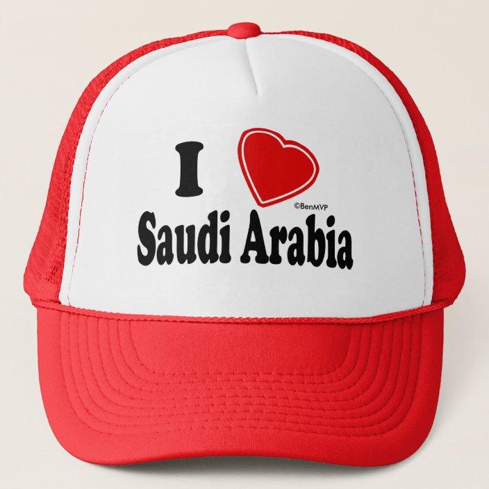 I Love Saudi Arabia Mesh Hat