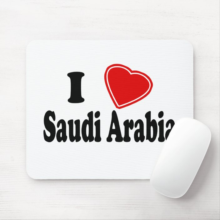 I Love Saudi Arabia Mouse Pad