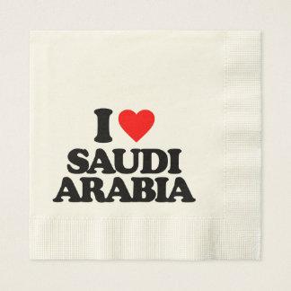 I LOVE SAUDI ARABIA NAPKIN