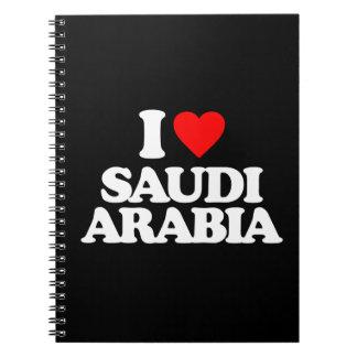 I LOVE SAUDI ARABIA SPIRAL NOTEBOOKS