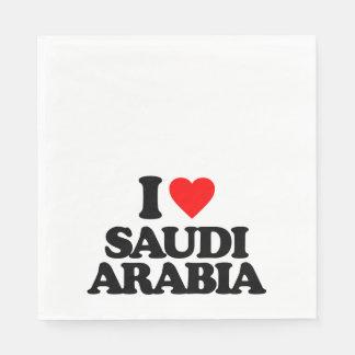 I LOVE SAUDI ARABIA PAPER NAPKIN