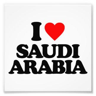 I LOVE SAUDI ARABIA PHOTOGRAPHIC PRINT