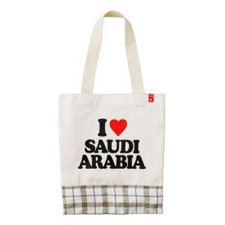 I LOVE SAUDI ARABIA ZAZZLE HEART TOTE BAG
