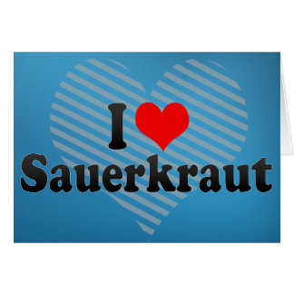 I Love Sauerkraut Cards