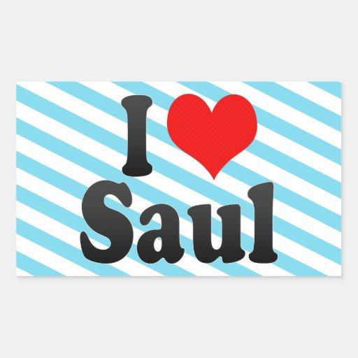 I love Saul Rectangular Sticker