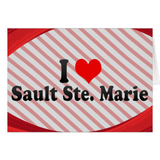 I Love Sault Ste. Marie, Canada Stationery Note Card
