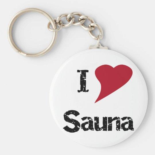 I Love Sauna Keychain