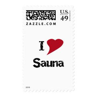 I Love Sauna Postage Stamps