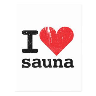 I Love Sauna Postcard