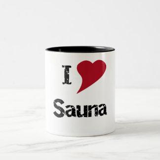 I Love Sauna Two-Tone Coffee Mug
