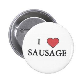 I Love Sausage Button