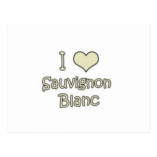 I Love Sauvignon Blanc Postcard