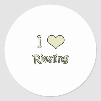 I Love Sauvignon Blanc Round Sticker