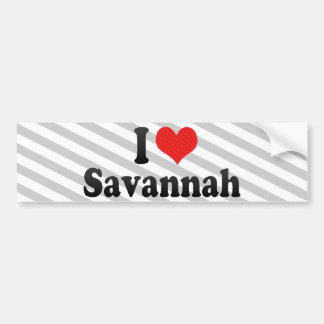 I Love Savannah Bumper Sticker