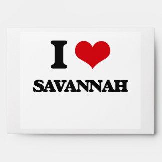 I love Savannah Envelopes