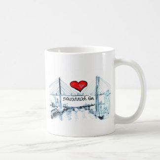 I love Savannah Ga Classic White Coffee Mug
