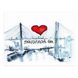 I love Savannah Ga Postcard