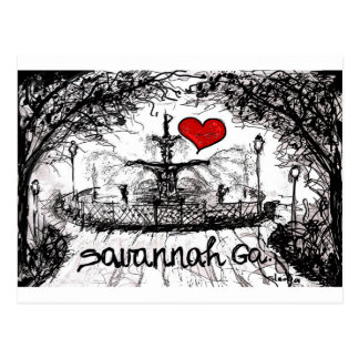 I love Savannah Ga. Postcard