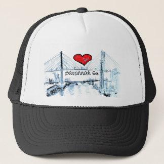 I love Savannah Ga Trucker Hat