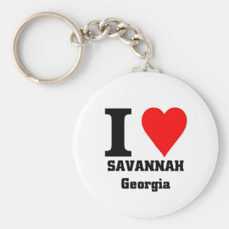 I love Savannah, Georgia Keychain