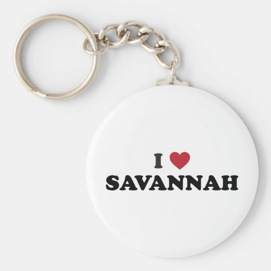 I Love Savannah Georgia Keychain