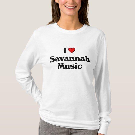 I love Savannah Music T-Shirt