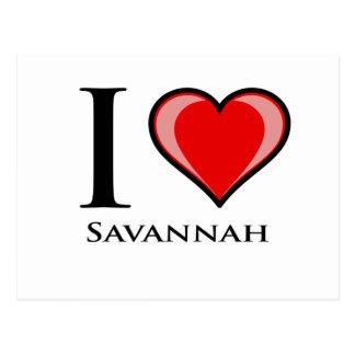 I Love Savannah Postcard