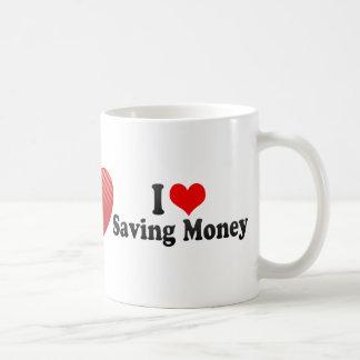 I Love Saving Money Classic White Coffee Mug