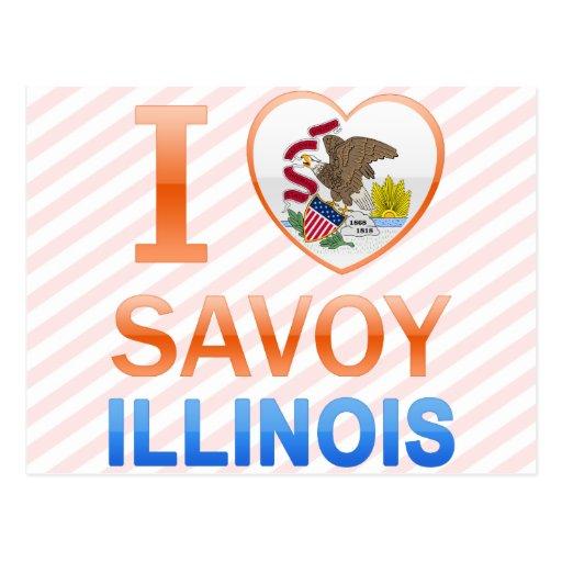 I Love Savoy, IL Postcard