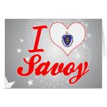 I Love Savoy, Massachusetts Greeting Card
