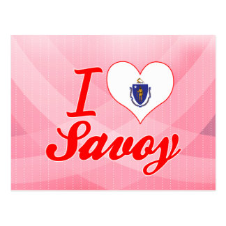 I Love Savoy, Massachusetts Postcard