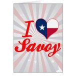 I Love Savoy, Texas Card