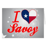 I Love Savoy, Texas Greeting Cards