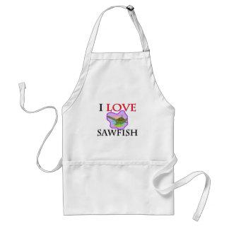 I Love Sawfish Adult Apron