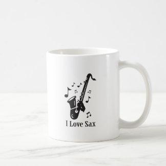 I Love Sax Coffee Mug