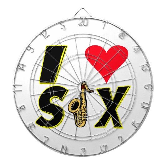 I Love Sax Dartboards
