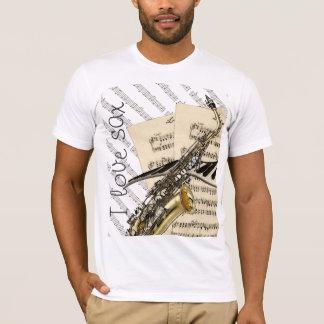 I Love Sax Funny Music Design T-Shirt