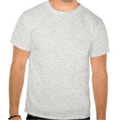 I Love Sax T Shirt, Red on Ash