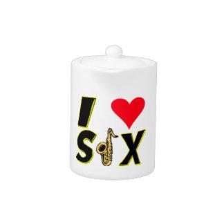 I Love Sax Teapot
