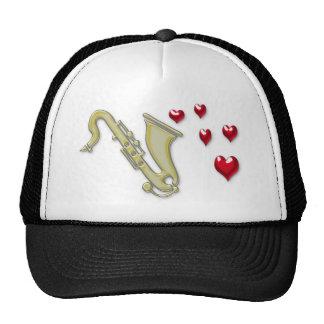 I Love Saxaphone Hearts Trucker Hat