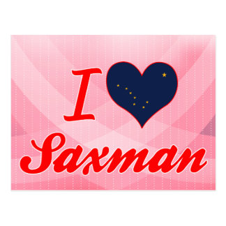 I Love Saxman, Alaska Postcards