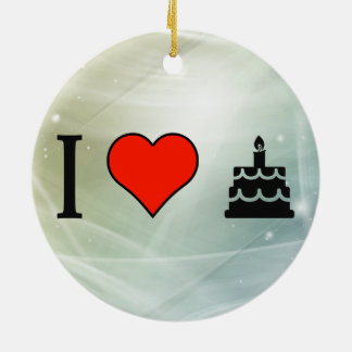 I Love Saying Happy Birthday Double-Sided Ceramic Round Christmas Ornament