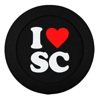 I LOVE SC BUTTON COVERS