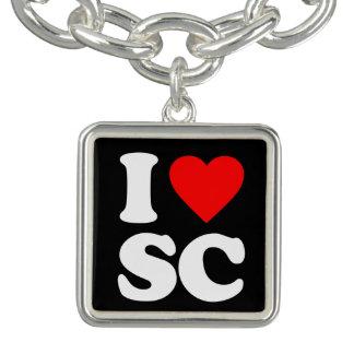 I LOVE SC CHARM BRACELET