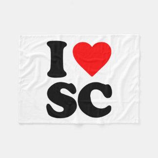 I LOVE SC FLEECE BLANKET