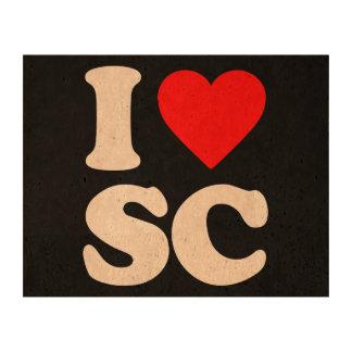 I LOVE SC CORK PAPER