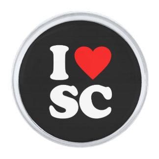 I LOVE SC SILVER FINISH LAPEL PIN