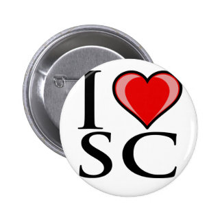 I Love SC - South Carolina Pinback Button